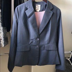 Grey/blue blazer jacket